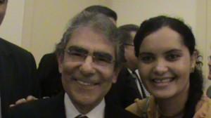 Presidente do STF, Ministro Carlos Ayres Brito e Elis Azevedo, diretora de Gestão de Pessoas do IF Baiano